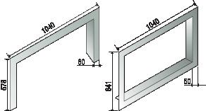 Chemin es et cadres cadre design largeur chemin es axis - Encadrement pour insert ...