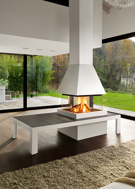 chemin e design tallin avec foyer m360q chemin es axis. Black Bedroom Furniture Sets. Home Design Ideas
