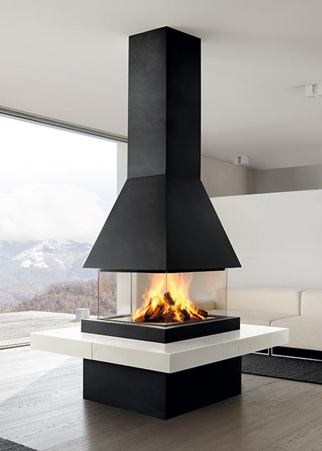 chemin e design lund avec foyer m360q chemin es axis. Black Bedroom Furniture Sets. Home Design Ideas