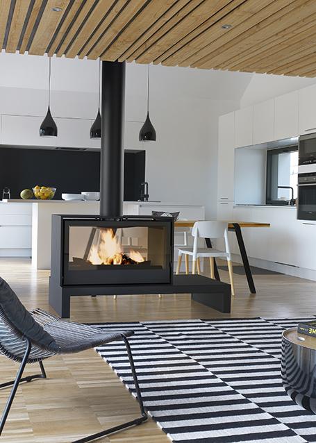 poele double face mod le 1000 double combustion. Black Bedroom Furniture Sets. Home Design Ideas